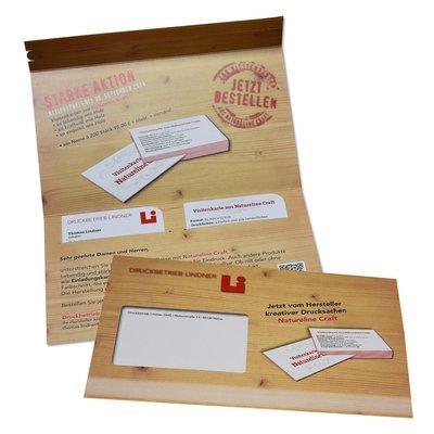 DIN lang Mailing Natureline-Craft (Holzoptik) - Kreative Drucksachen - prägnant, wirksam, emotional