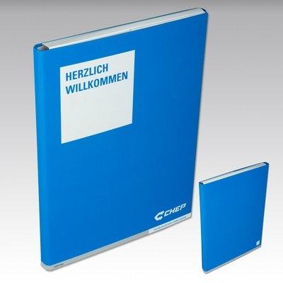 Einschubbox - Willkommensmappe - Firmenordner, Ringbücher, Ringmappen individuell bedrucken lassen