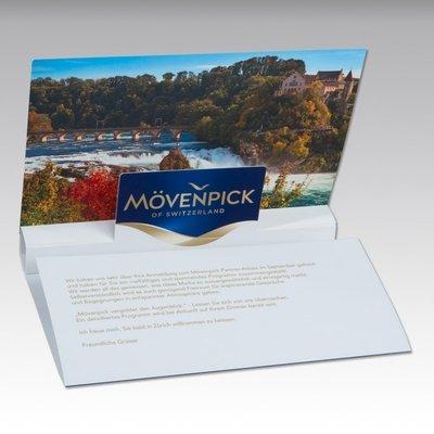 3D Pop-up Karte A5 6-seitig - Einladungskarte - Lindner steht für Beratung - Kreation - Veredelung - Druck - Konfektionierung