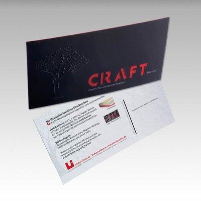 Maxi-Postkarte aus Craft-Karton - Kreative Drucksachen - prägnant, wirksam, emotional
