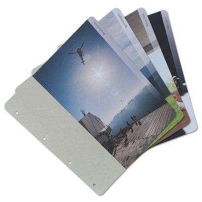 Register auf Graukarton kaschiert - Kreative Drucksachen - prägnant, wirksam, emotional