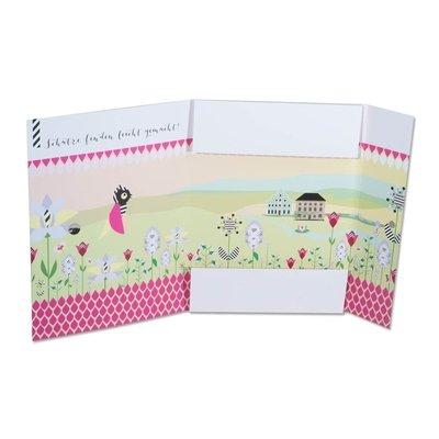 Bunte Mappe mit Blumenmotiv Innen