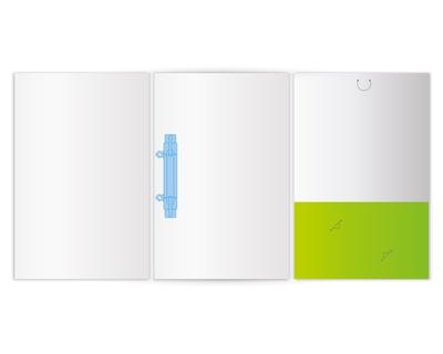 6-Seiten-Mappen mit Abheftung und Taschen