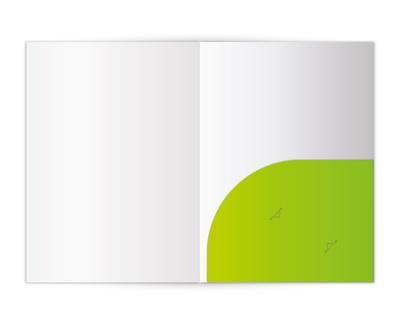 1-Tasche-Mappen rund