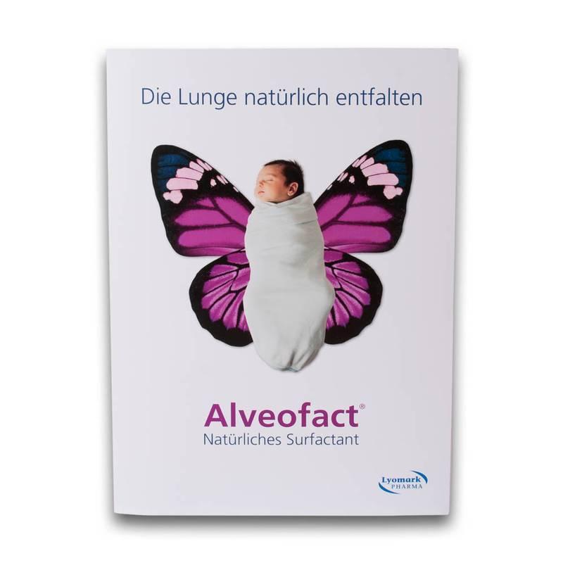 6 Seiten Mappe mit Baby als Schmetterling