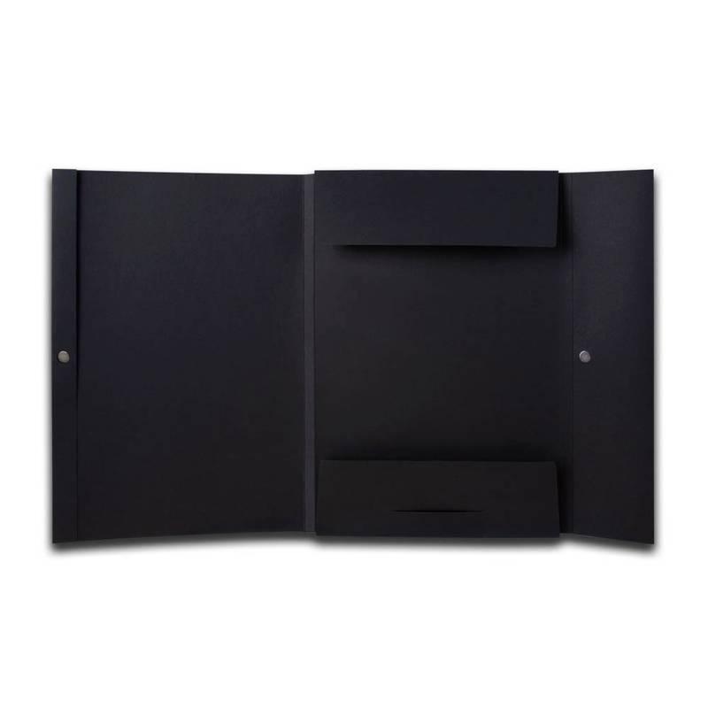 Schwarze Mappe mit Laschen