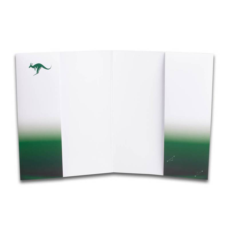 Grüne/Weiße Doppeltaschen Mappe