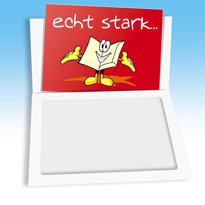 Weiße Minimappe mit Fenster und roter Scheckkarte