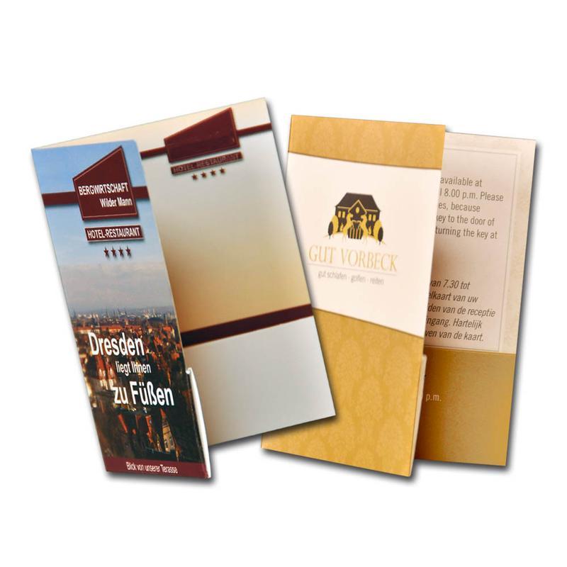 2 Sorten Scheckkartenmappe mit Aufdruck