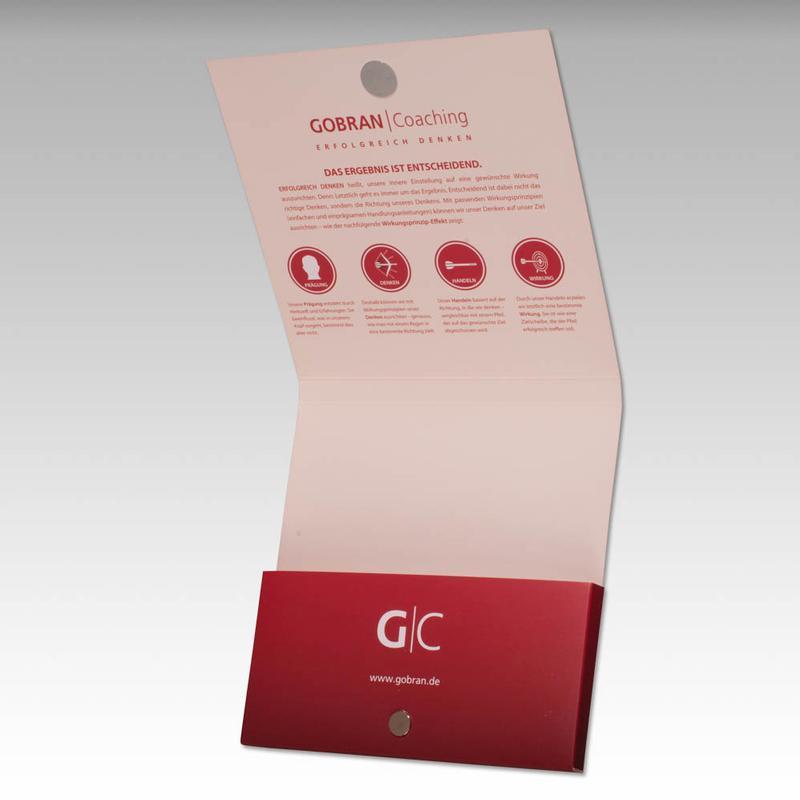 Roter Taschenmappe quadratisch mit Magnet