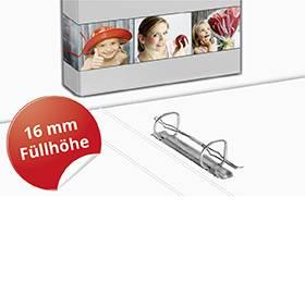 2-Ringordner A4 16mm Füllhöhe - Druckerei Lindner steht für: Ordner drucken, Ringordner drucken, Ringbücher drucken, Firmenordner drucken