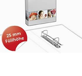 2-Ringordner A5 25mm Füllhöhe - Druckerei Lindner steht für: Ordner bedrucken, Ringordner bedrucken, Ringbücher bedrucken, Firmenordner bedrucken
