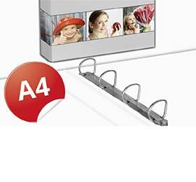 4-Ring Ordner A4 - Druckerei Lindner - Ihr Partner in Sachen Konfektionierung ein Einlagerung