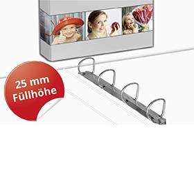 4-Ringordner A4 25mm Füllhöhe - Druckerei Lindner ist Ihr Hersteller von Firmenordnern